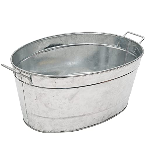 fa932fad85f Achla Designs Standard Oval Galvanized Steel Tub