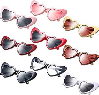 النظارات الشمسية على شكل قلب خمر نظارات النساء ريترو نظارات للتسوق اكسسوارات حفلة السفر