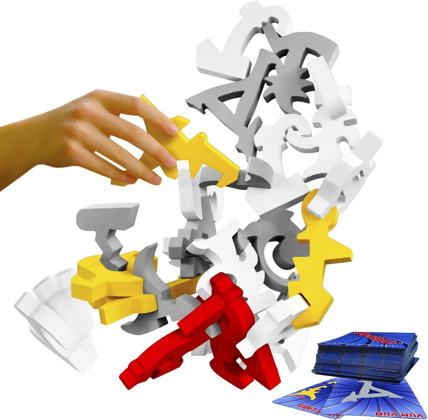 Quaggle Stacking Balance Game - Wood Blocks Ga Attention brand List price Premium Suspend