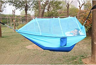 Xcellent Global Camping Hammock Mosquito Net Hanging Bed Outdoor Survival Parachute Nylon for Outdoor Travel Hiking Backpa...