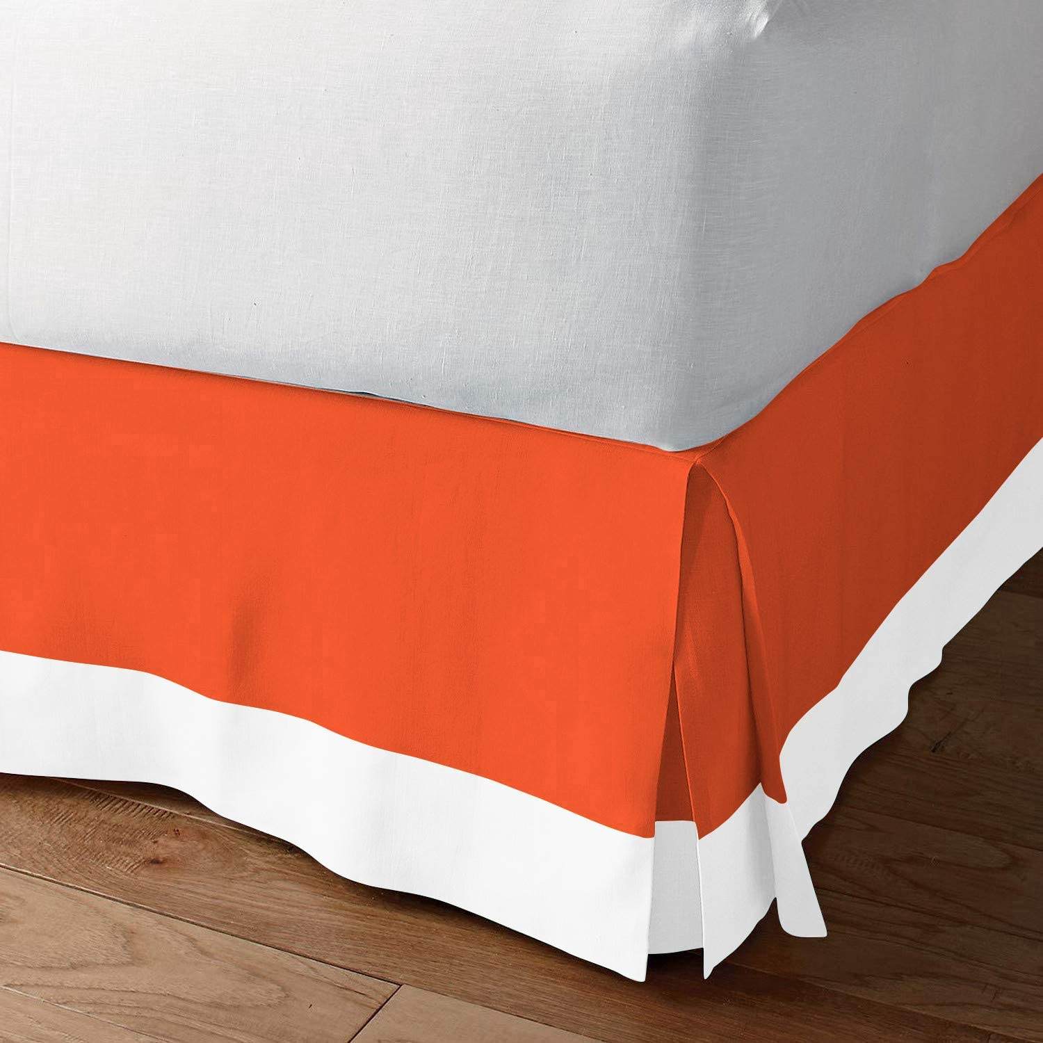 Fabricom Two Tone 100% Egyptian Cotton - Orange Bed Challenge the lowest Chicago Mall price of Japan Twin White
