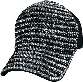 Tipsy Chics Capsmith Women's Black & Silver Fully Studded Rhinestone Baseball Hat