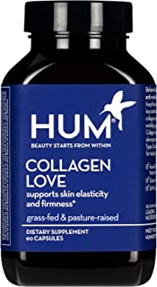 HUM Collagen Love - Type I & III Collagen Peptides Skincare Supplement with Hyaluronic Acid & Vitamin C - Support Skin Fir...