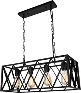 Farmhouse Kitchen Island Light Fixtures Industrial Rustic...