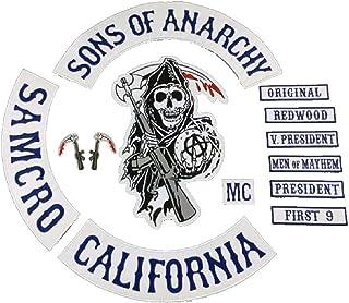 Sons of Anarchy 13 x Piece Full Size Biker Patch set. SOA Pa
