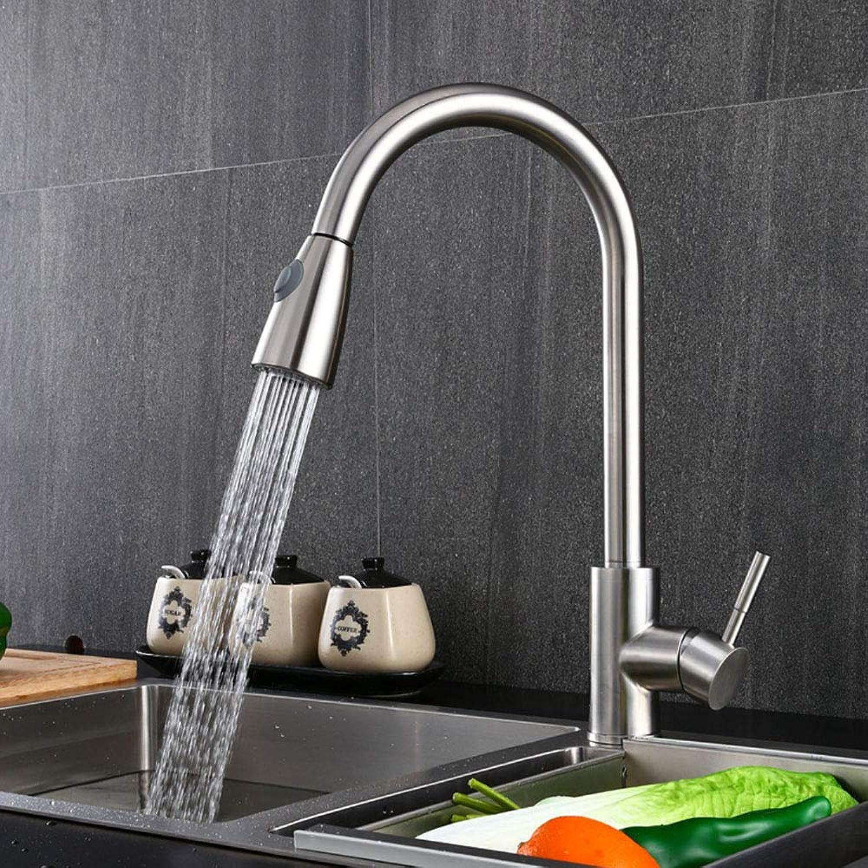Anatbb Küchenarmatur, Küchenmischbatterie, Küchenspüle, Zeichnungsbrause Wasser, Edelstahl gebürstet,Kitchentap