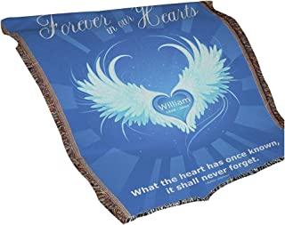 "GiftsForYouNow Personalized Forever in Our Hearts Throw Blanket, 54"" x 38"", Cotton/Poly"