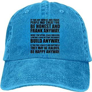 52558258a52f8 Nordic Runes Mother Teresa Quote Mens Womens Baseball Cap Plain Denim Dad  Snapback Cowboy Hat for