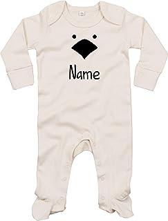 Kleckerliese Baby Schlafanzug Strampler Schlafstrampler Sprüche Jungen Mädchen Motiv Tiere Küken Huhn Wunschname