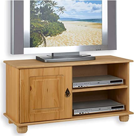 idimex tv lowboard belfort kiefer massiv 94 cm breit fernsehschrank tisch rack phono mobel bank