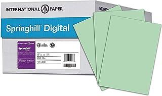 "$84 » Springhill 8.5"" x 11"" Green Colored Cardstock Paper, 65lb, 176gsm, 2,500 Sheets (10 Reams) – Premium Medium Weight Vellum ..."