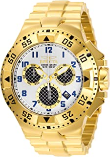 Invicta Men's Excursion Quartz Watch with Stainless Steel Strap, Gold, 30 (Model: 29722)