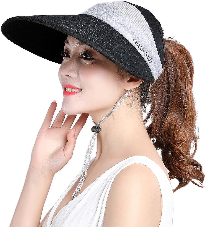 HINDAWI Sun Hats Women Wide Brim Sun Hat Womens Packable Floppy UV Predection Summer Visor Beach Hat
