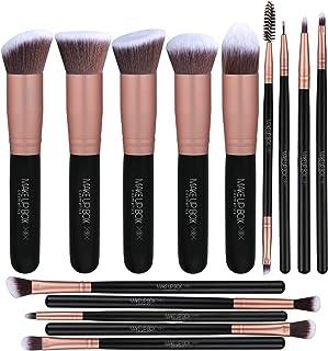 Makeupbox 14 Brochas de maquillaje kabuki Rose Gold Profesionales Gran Aplicación Suaves y Firmes%100 Veganas y cruelty fr...