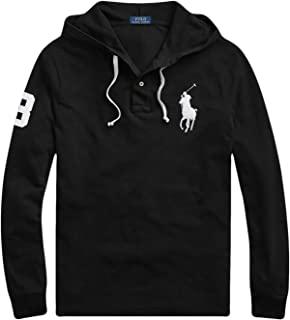 Mens Hoodie Medium Henly Embroidered