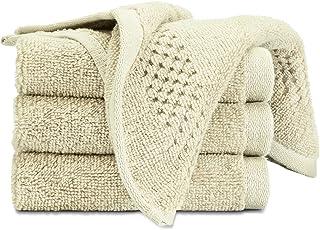 Spaces Essentials 4 Piece 450 GSM Cotton Face Towel Set - Pearl