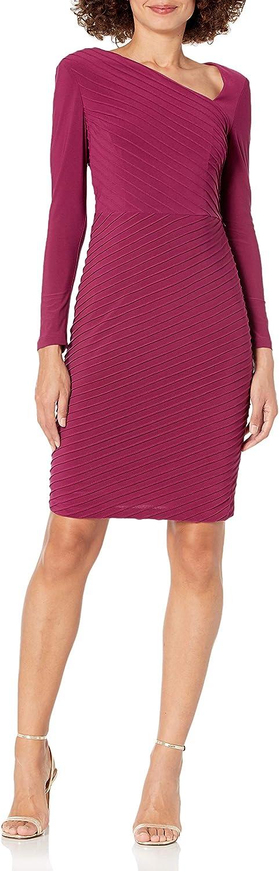 Adrianna Papell Women's Angled Dress 2021 new Sale Sheath Pintuck