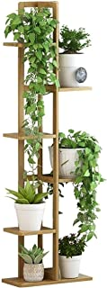 Plant Stand Flower Pots Shelf Multi-layer Upright Flower Stand Bamboo Simple Floor-standing Plant Stand Indoor Storage Rac...
