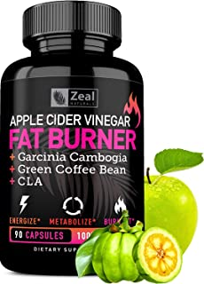 Apple Cider Vinegar Weight Loss Pills for Women - Garcinia Cambogia + Apple Cider Vinegar Pills for Weight Loss w. CLA & Green Coffee Bean Green Tea Fat ...