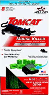 Tomcat Mouse Killer Refillable Station for Indoor/Outdoor Use - Child and Dog Resistant (1 Station with 8 Baits)
