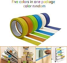 LiXiongBao Colored Masking Tape,5 Pcs Rainbow Masking Tape Labelling Tape,Assorted Color Coded & Kids DIY Art Supplies,Home Decoration,Office Supplies,Crafting,Kids Games,Art Teacher Supplies,Moving