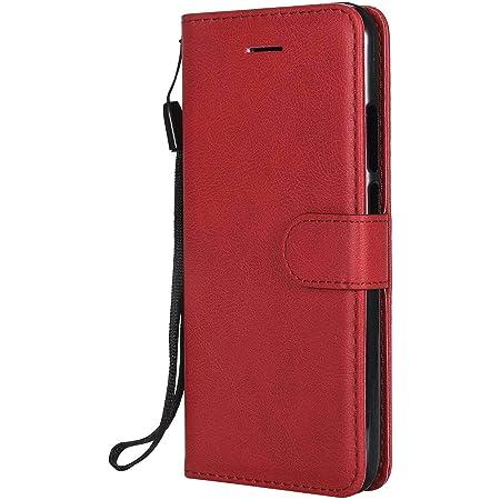 DENDICO Cover Huawei P20 Lite, Premium Portafoglio PU Custodia in Pelle, Flip Libro TPU Bumper Caso per Huawei P20 Lite - Rosso