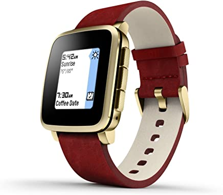 Pebble Time Steel Smartwatch for Apple/Android Devices -...