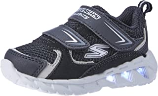 Skechers Magna-Lights - Vendow Boys Sneakers, Black/Silver, 5 US