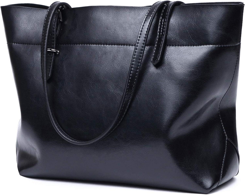 HYF Womens Purses And Handbags Ladies Designer Satchel Tote Bag Shoulder Leather Bags (color   Black, Size   Onesize)