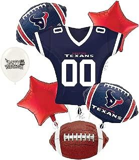 Houston Texans NFL Football Party Balloon Bouquet Bundle