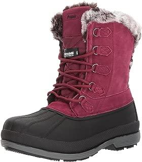 Propet Women's Lumi Tall Lace Snow Boot, Berry, 11 4E US
