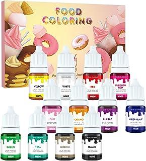 Colorante Alimentario liquido set, Wayin 6ML Colorante Alta Concentración Para los Bebidas Reposteria Pasteles Galletas Macaron Fondant Colorear (12pcs)