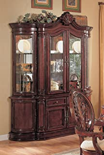 Coaster Tabitha Traditional China Cabinet in Dark Cherry & Amazon.com: Hutch - China Cabinets / Kitchen \u0026 Dining Room Furniture ...
