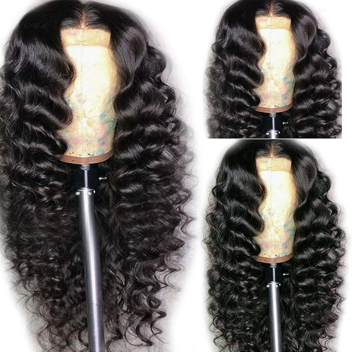 金銭的中傷髄女性ブラジル人かつら実体波180%フル密度赤ちゃんの毛髪未処理の人間の毛髪の黒 62cm