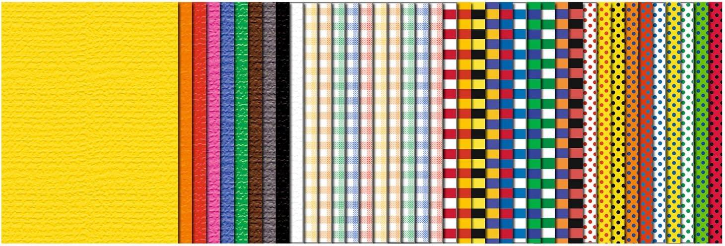 in 10 Pastellfarben durchgef/ärbt ca URSUS 7760099SE Kombi-Block in der Sonderedition Pastell aus je Blatt Tonzeichenpapier 130 Fotokarton 300 g//m/² 23 x 33 cm gro/ß aus Frischzellulose