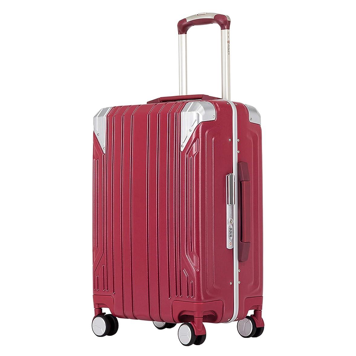 冒険差別する体操クロース(Kroeus)スーツケース キャリーケース PC100%ボディ高強度 TSAロック搭載 8輪 アルミフレーム S型機内持ち込み可 日本語取扱説明書 1年間保証付き