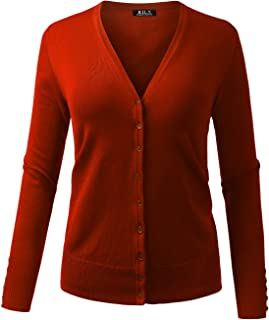 bfede1419c BH B.I.L.Y USA Women s V-Neck Button Down Long Sleeve Soft Classic Knit  Cardigan