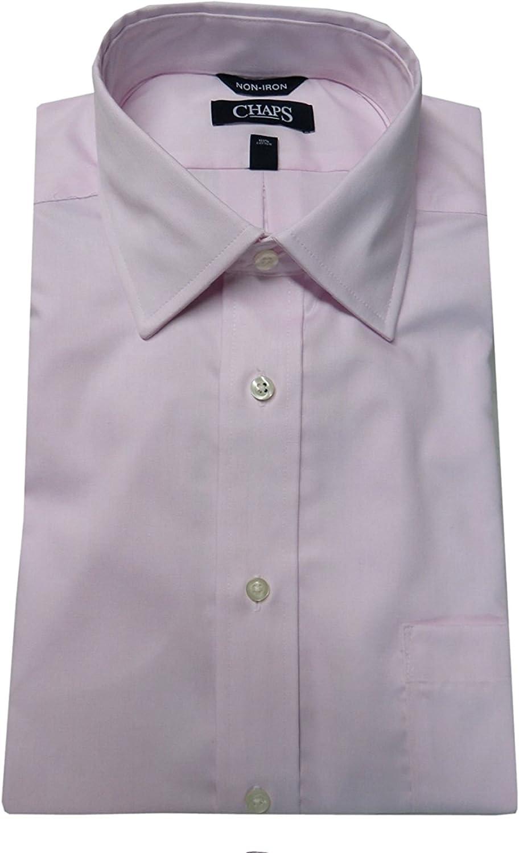 Chaps Men's Classic-Fit No-Iron Long Sleeve Dress Shirt, Petal