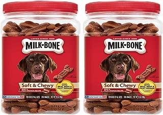 Milk-Bone Soft & Chewy Beef & Filet Mignon Recipe Dog Snacks (2 Pack 25 oz)