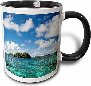3dRose Rock Islands Of Palau Micronesia Unesco World Heritage Site Two Tone Mug, 11 oz, Black