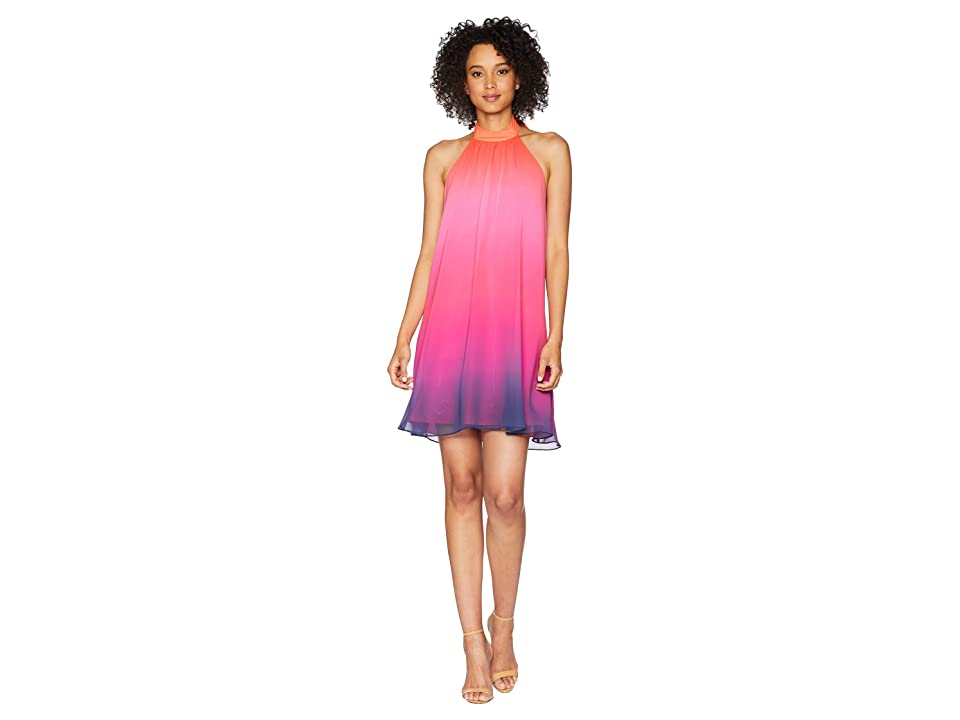 CeCe Monte Ombre Halter Dress (Viva Pink) Women