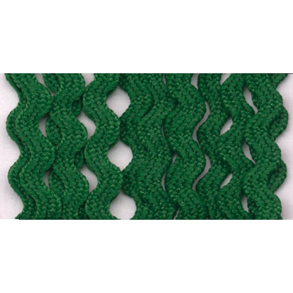 Wrights 117-400-044 Polyester Baby Rick Rack Utility Trim, Emerald, 4-Yard
