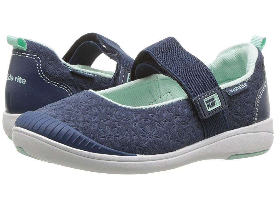 Stride Rite M2P Lia (Toddler) (Navy Leather) Girls Shoes