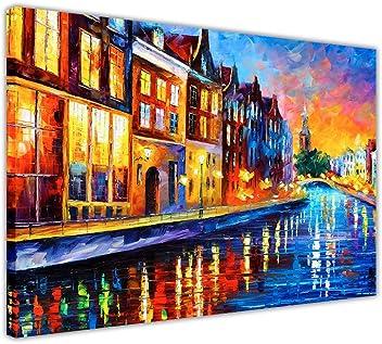 di Leonid Afremov Ristampa personalizzabile pittura a olio New Rain Princess 01-16 X 16 su tele incorniciata 40CM X 40CM arte murale Tela