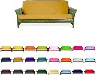 gold futon cover