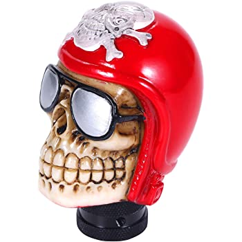 Bashineng Car Stick Shift Lever Skull Style Gear Shifter Knob Fit for Most Automatic Manual Truck SUV Cars Beige