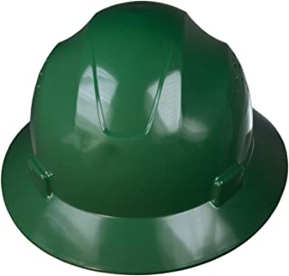 JORESTECH Safety Hard Hat Green HDPE Full Brim Helmet with 4-Point Adjustable Ratchet Suspension For Work, Home, and General Headwear Protection ANSI Z89.1-14 Compliant HHAT-02