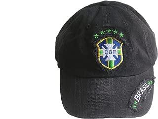 Brasil Brazil CBF Logo FIFA Soccer World Cup Embossed Hat Cap .. Acid Washed .. New