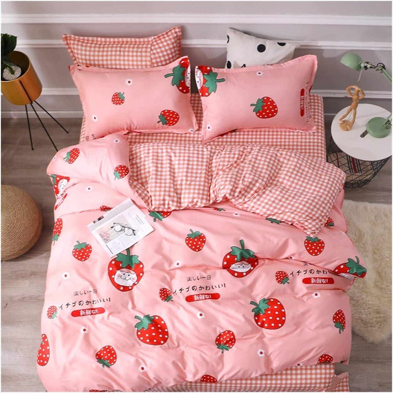 LSDJ QMDSH Home Wholesale Textile Girl Bedding Cover Pink Set Peach Duvet Raleigh Mall
