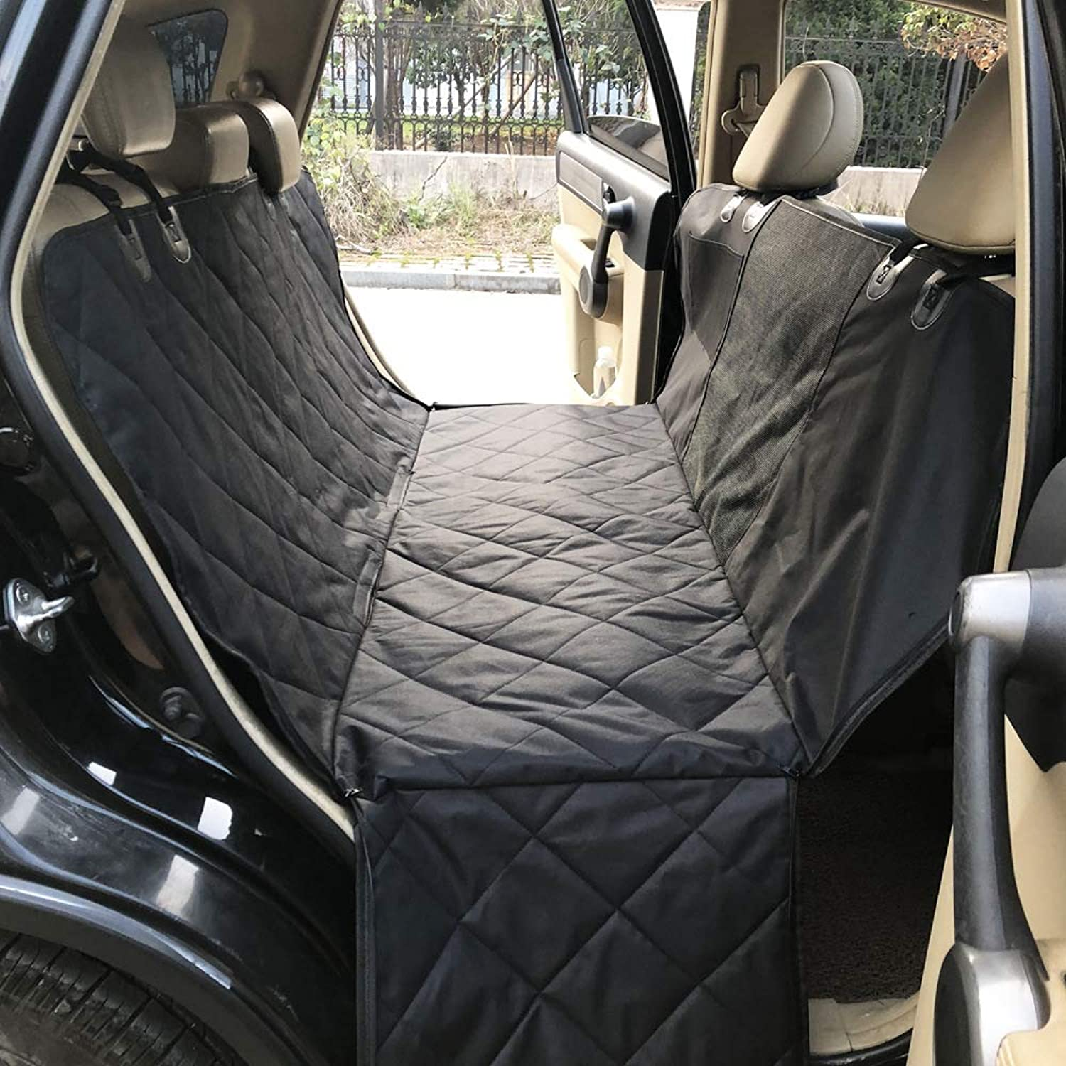 Dog Car Seat Cover Waterproof Pet Car Seat Predector With Side Flaps, Scratch Proof Nonslip Padded Pet Seat Cover
